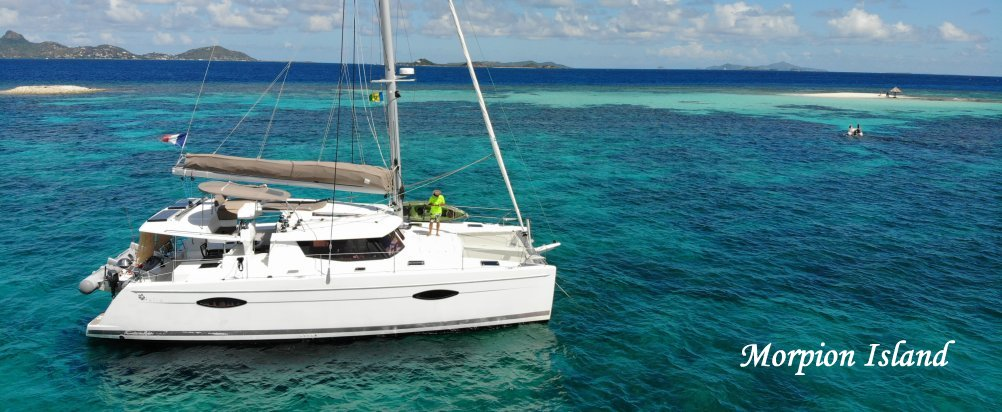 Catamaran Gypse Helia 44 Fountaine Pajot à Morpion Island